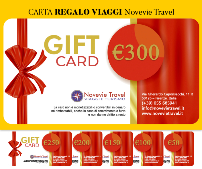 Gift Card Viaggi Novevie Travel