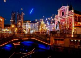 Slovenia Lubiana Natale